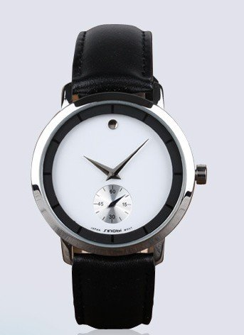 Ufingo-Nice Leather Strap Stylish Quartz Wrist Watch For Men/Boys-White