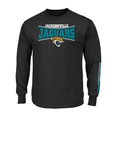 nfl-jacksonville-jaguars-mens-tackle-trap-long-sleeve-crew-neck-fleece-tee-large-black