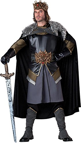 InCharacter Costumes Men's Medieval King, Grey/Black, Medium
