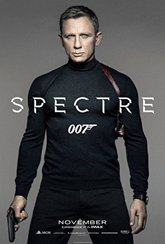 "SPECTRE - Movie Poster (24"" x 36"") Glossy Finish (Thick, 8mil): Daniel Craig, Monica Belluci, Lea Seydoux"