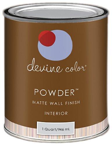 Devine Blue, Woven Tattles & Spun Tales Collection, Devine Color Interior Paint, Powder Flat, 1-Quart (Light Blue Wall Paint compare prices)