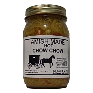 Chow Chow - 2-16 Oz Jar - Hot by Arndt's Fudgery, LLC DBA The Amish Buggy