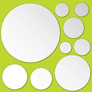 Wallpops Peel and Stick Mirror Decoration, Dots