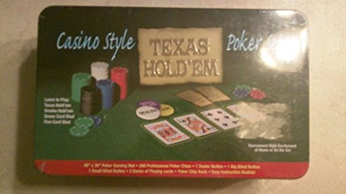 Texas holdem casino style poker set