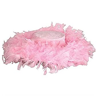 Pink Feather Tea Party Hat Assortment (6 pc)