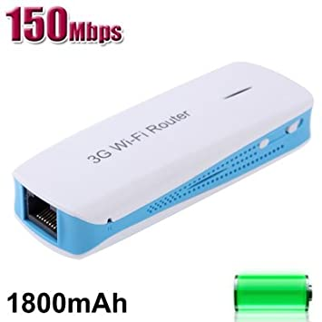 MPR-L8 3 in 1 150Mbps WIFI Wireless Router with Mobile Power (1800mAh Mobile Power + 3G Hotspot + Wireless AP), Blue