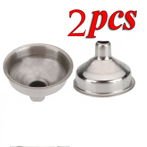 2PCS 8mm Stainless Steel Funnel for All Kinds of Hip Flasks Wine Pot Filler