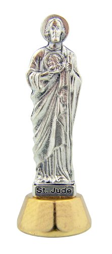 Catholic Gift Travel Protection Patron Saint St Jude the Apostle Adhesive Car Auto Statue Figure Dashboard Decoration