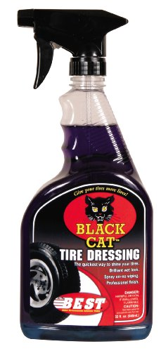 B.E.S.T. 43032 Black Cat Tire Dressing Spray Bottle - 32 oz.B.E.S.T. 43032 Black Cat Tire Dressing Spray Bottle - 32 oz.