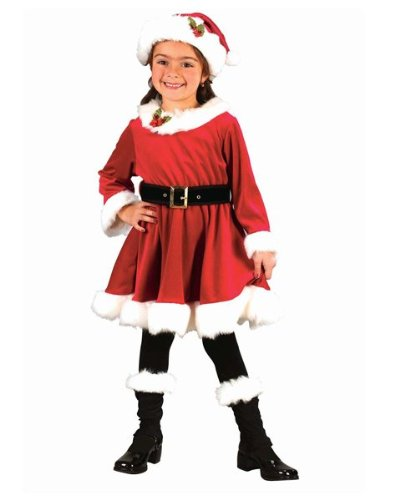 Little Miss Santa Toddler Child Christmas Costume Size 3T-4T