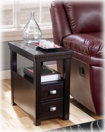 Cheap Espresso Chairside End Table by Ashley Furniture (T864-7)