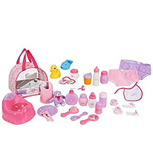 You & Me 30 Piece Baby Doll Care Accessories in Bag from You & Me