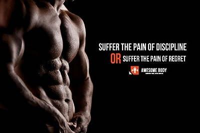 Bodybuilding Fitness Motivational Art Silk Wall Poster 24x36 inch 09