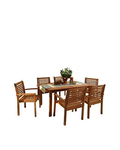 Amazonia Milano 7-Piece Rectangular Set, Brown