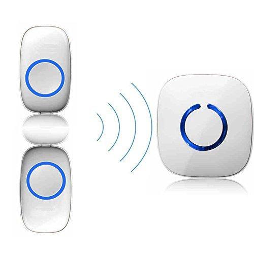 ELTD Campanello senza fili, C Model campanelli wireless con portata 300m e 52 melodie, indicatori LED (2 Trasmettitori + 1 Ricevitore)