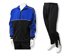 Roma youth and men\'s poly-knit athletic warmup set - size Adult XL - color Royal/Black