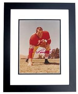 Signed Leo Nomellini Photo - 8x10 BLACK CUSTOM FRAME - Autographed NFL Photos