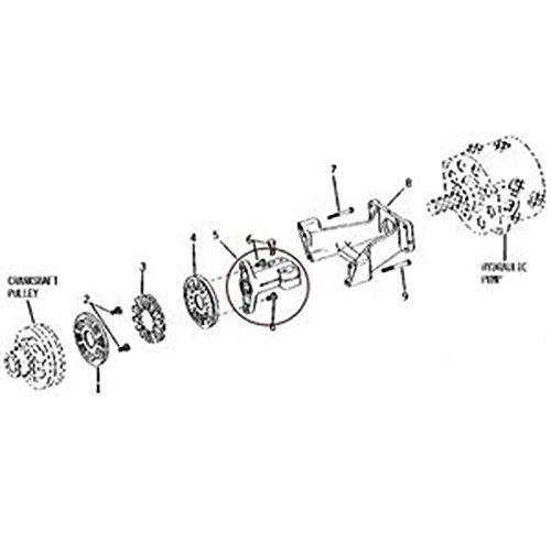 T128296 New Hydraulic Pump Drive Shaft Coupler Made To Fit John Deere 300B 410 510 670 770 +