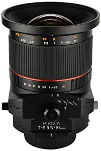Rokinon TSL24M-C 24mm f/3.5 Tilt Shift Lens for Canon