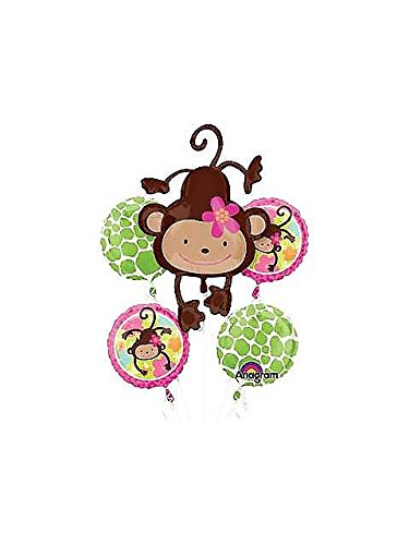 Mayflower BB021465 Floral Monkey Mylar Balloon Bouquet