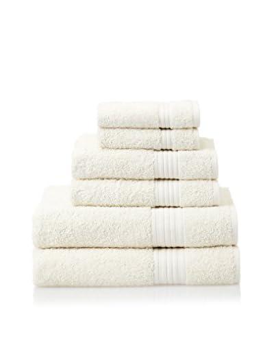 Chortex 6-Piece New Savannah Towel Set, Cream