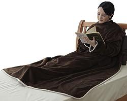 西川 リビング あったか 着る毛布 カラーパレット ブラウン