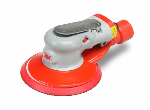 "3M Random Orbital Sander - Elite Series 28509, Air-Powered, Central Vacuum, 6 Inch, 3/32"" Orbit"