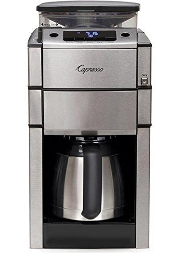 Capresso Coffee Team Pro Therm Stainless Steel Drip Coffee Maker with Burr Grinder