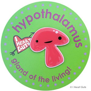 Hypothalamus Lapel Pin Gland Of The Living I Heart Guts