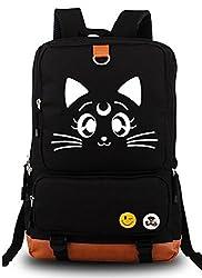 Siawasey Sailor Moon Anime Usagi Tsukino Luna Cosplay Bookbag Backpack Shoulder Bag School Bag