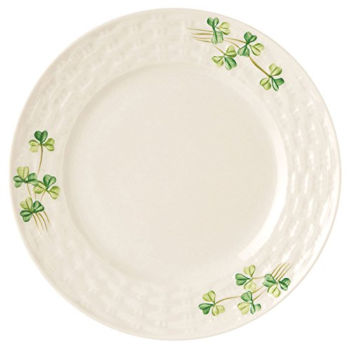 Irish Belleek Side Plate With Shamrock Design