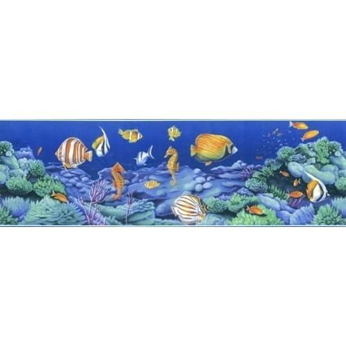 Amazon.com - Tropical Fish and Seahorse Border - Wallpaper