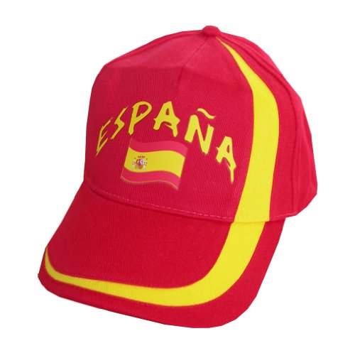 supportershop-cappellino-regolabile-spain-rosso-multi-coloured-red-black-taglia-unica