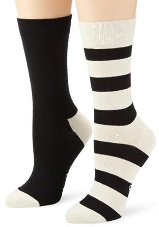 Happy Socks Two Pack Men's Socks White/Black Large