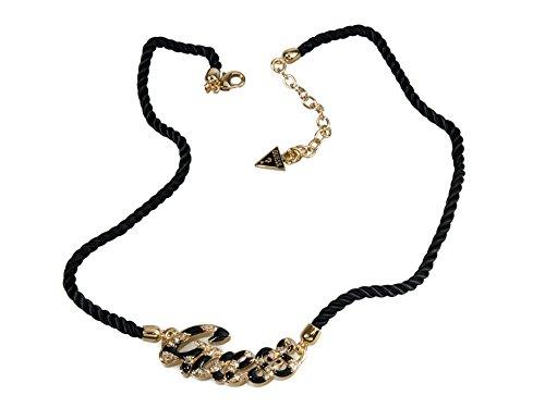 Guess Damen-Halskette Metall mit Textil und Metall UBN71206 thumbnail