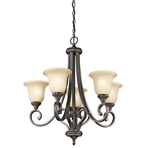 Kichler Lighting 43156OZ Monroe 5-Light Chandelier with Light Umber Etched Glass, Olde Bronze Finish Kichler Lighting B008F9ZFXK