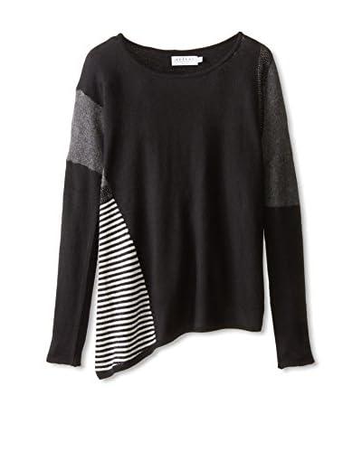 Velvet by Graham & Spencer Women's Mixed Material Sweater