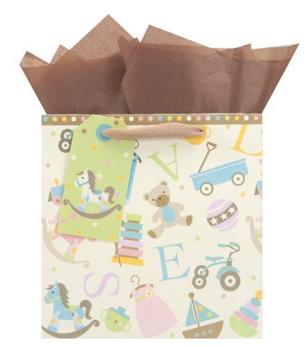 The Gift Wrap Company Square Gift Bags, Toy Chest, Medium, 12 Count front-452268