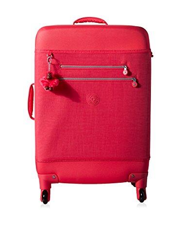 Kipling Monti M Wheeled Suitcase, Vibrant Pink