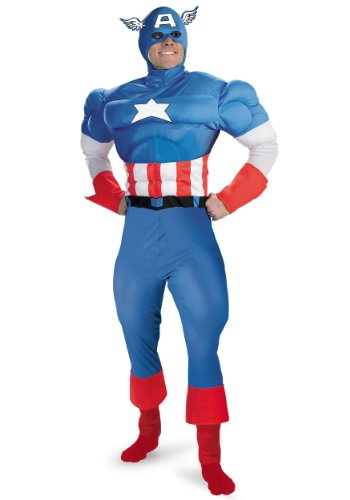 Official Marvel Classic Captain America Costume - M, XL