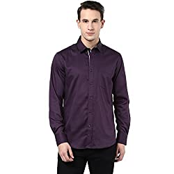 MENS COTTON SHIRT WINE L