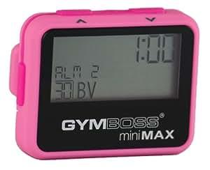 Gymboss miniMAX Minuteur d'intervalle et chronomètre - Coque rose/rose softcoat