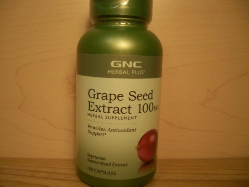GNC Grape Seed Extract 100mg 100 Capsules (Gnc Grape Seed Extract Capsules compare prices)