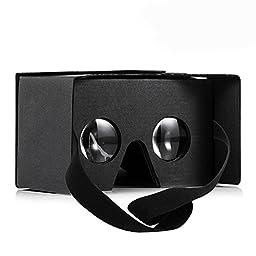 #1 Aerb Google Cardboard V2.0 Virtual Reality DIY 3D Glasses for Smartphone with Headband