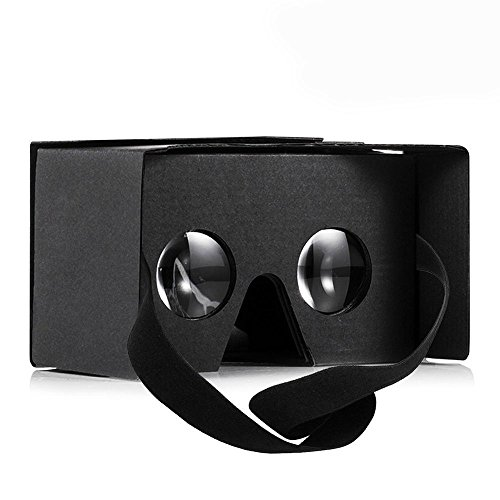 #1 Aerb Google Cardboard V2.0 Virtual Reality Diy 3D Glasses For Smartphone With Headband