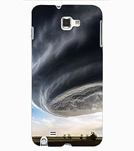 ColourCraft Hurricane Design Back Case Cover for SAMSUNG GALAXY NOTE 1