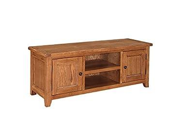 Dorset mueble para televisor, madera de roble blanco