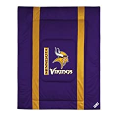 NFL Minnesota Vikings Sideline Bed Comforter by Sports Coverage