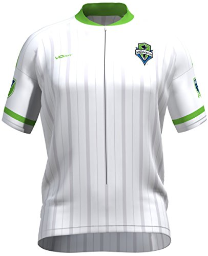 MLS Seattle Sounders FC Men's Secondary Short Sleeve Cycling Jersey, X-Large, White (Sounders Cycling Jersey compare prices)
