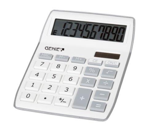 Genie 840 S 10-stelliger Tischrechner (Dual-Power (Solar und...